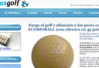 Bolas de golf biodegradables